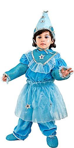 Carnevale Venizano CAV1145-2 - Kleinkindkostüm Dolce FATINA Azzurra - Alter: 0-3 Jahre - Größe: - Pinocchio Kostüm Kind