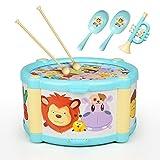 Musikinstrumente Trommel Baby ValueTalks 6pcs Tamburin Musikalische Spielzeug Set Musik Lernspielzeug für Baby Kinder