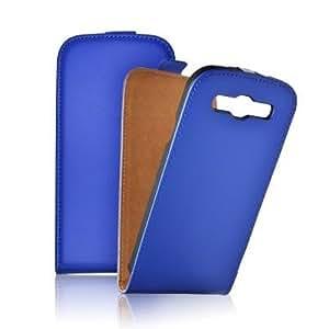 Mobility Gear MG-CASE-KF-S681L Etui flip slim avec fermeture aimant pour Samsung Galaxy S6810 Bleu