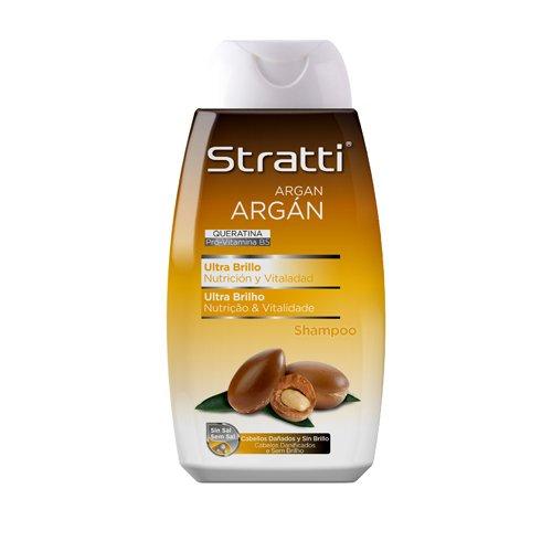 Foto de Stratti Argán - Champú Ultra Brillo con Keratina, sin Sal - 400 ml
