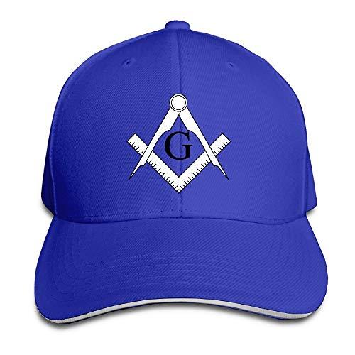 Sandwich Baseballmütze Unisex Trucker Style Hüte Freimaurer Muster & Kompass