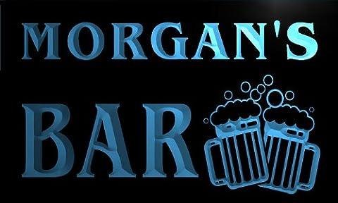 w000062-b MORGAN'S Nom Accueil Bar Pub Beer Mugs Cheers Neon Sign Biere Enseigne Lumineuse