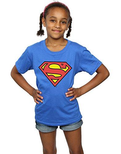 DC Comics niñas Superman Logo Camiseta 9-11 Years Azul...