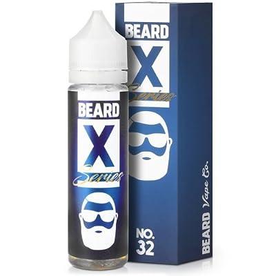Beard Vape No. X-Series-50 ml-Shake'n Vape Liquids-0 mg Nikotin-befüllbar mit Nikotinshots/Base (No.32-feine Waffel+Zimt+Honig, 60VG/40PG) von Beard Vape