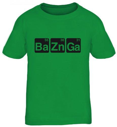 Shirtstreet24, BaZnGa, Kids Kinder Fun T-Shirt Funshirt, Größe: 134/146,kelly green -