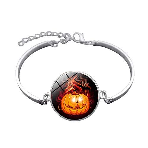 (Blisfille Handgemachte Halloween Schmuck Zeit Edelstein Armband Festival Armband Armband Damen Herren Karnevalsfeier)
