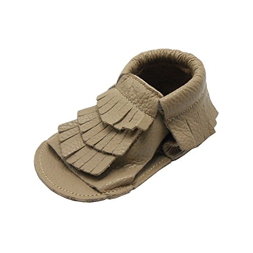 Sayoyo Lauflernschuh Weiche Leder Babyschuhe Sandale(0-6 Monate, Blau) Grey