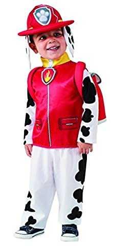 Rubie's Official Marshall Paw Patrol Fancy Dress Children's Costume, 117 cm - (Costumi)
