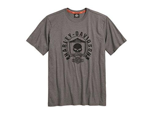 Harley Skull Davidson T-shirt (Harley-Davidson T-Shirt Skull Shield , 3XL)