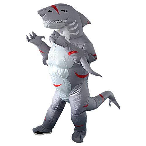 TOOGOO Erwachsene Aufblasbare KostüM für Karneval Weihnachten Halloween Party Furchtsamer Hai Maskottchen Frauen M?Nner Tier Cosplay Kleidung - Weihnachts Maskottchen Kostüm