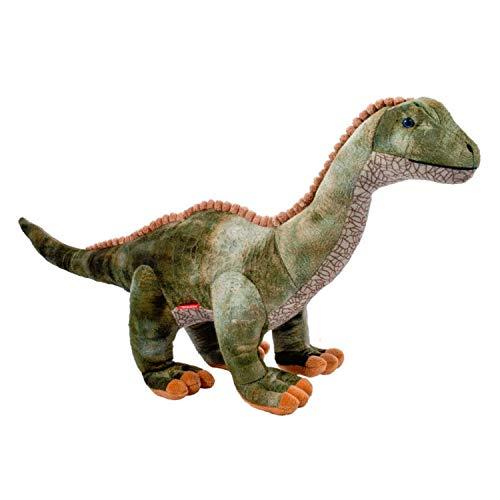 Faimex Plüschsaurier Grosses Plüschtier Dino XXL ideales Stofftier Geschenk Dinosaurier Iguanodon niedliches Kuscheltier für Kinder und Baby Plüschkissen Tier Kissen Auflage