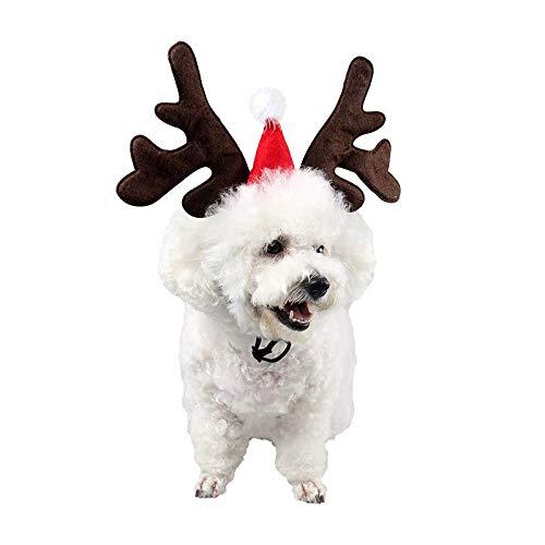 Petvins Haarschmuck für Hunde, verstellbar, mit Geweih, Antler C