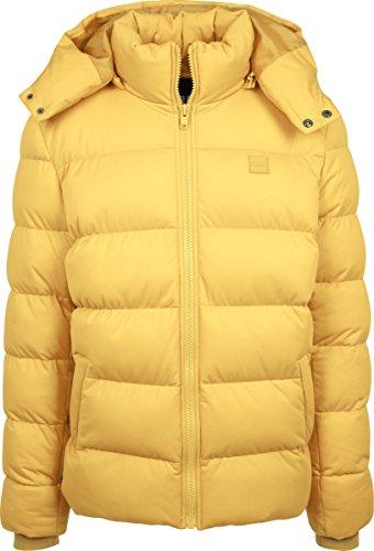 Urban Classics Herren Jacke Hooded Boxy Puffer Jacket, Gelb (Chrome Yellow 01148), Medium