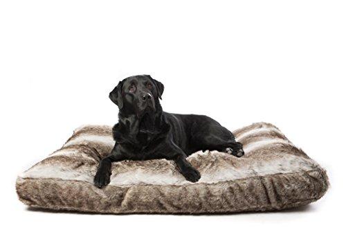 Bild von: Lex&Max/PETFAB - ROYAL FLAIR COMFORT Hundekissen - Größe: 90 x 65 x 9 cm mit PETFAB Füllung, Farbe: Silberfuchs