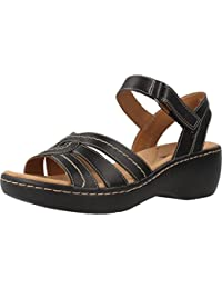 Clarks Women's Delana Varro Leather Fashion Sandals