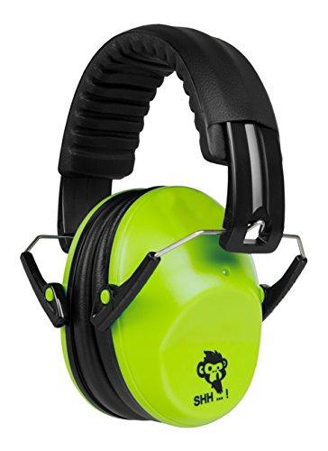 ACE SHH…! Kinder & Baby Gehörschutz – Kapselgehörschutz ab 2 Jahre mit verstellbarem Kopfbügel, Lime