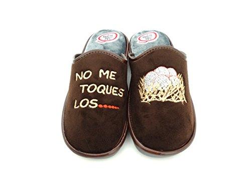 Se Me Ríen Los Pies Zapatillas de Casa para Hombre,No me toques los. (43)