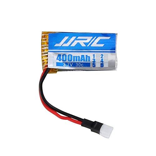 3,7V 400mAh Lipo Akku Batterie (4St) für Hubsan x4 107c 107d 107l JJRC H31 RC Quadcopter Drohne + 4 in 1 Batterien Ladegeräte - 6
