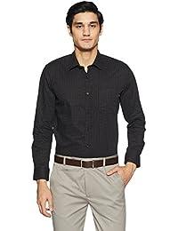 John Miller Men's Printed Slim Fit Cotton Formal Shirt