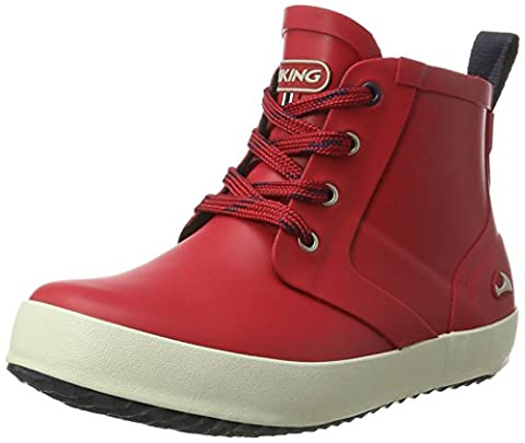 Viking Unisex-Kinder Lillesand Jr. Gummistiefel, Rot (Red/Black), 37 EU