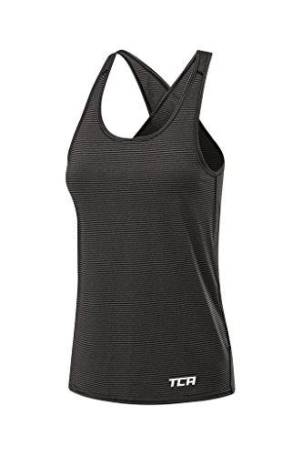 TCA Vista Damen Sport- & Lauf-Tanktop mit Quick Dry funktion - Schwarz, S (Quick Ärmelloses Dry Shirt)