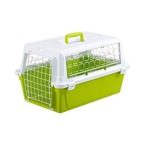 Ferplast trasportino per Cani e Gatti, Colore: Bianco/Verde