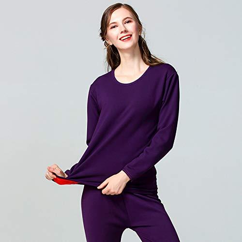 OPPP Ensemble de Sous-Vêtements Thermique sous-vêtement Thermique XL à Encolure Arrondie pour Femme, Chemise Longue et Longue John