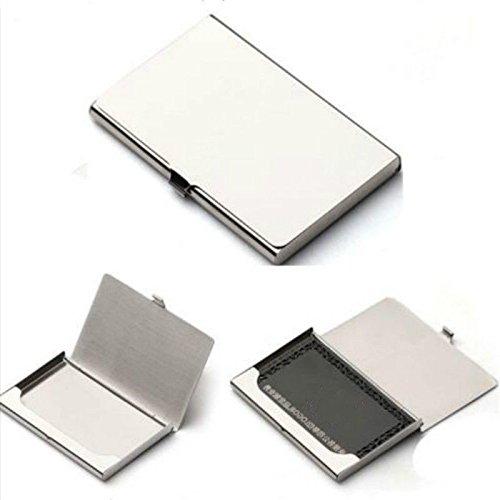Ultra dünnes Visitenkarten Etui Visitenkartenhalter ID Card Holder Kreditkartenaufbewahrung Edelstahl Metall Aluminium