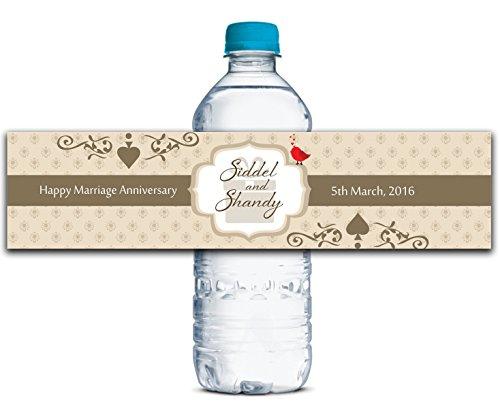 erflasche Etiketten Selbstklebende wasserdichte Kundenspezifische Jahrestags-Aufkleber 8