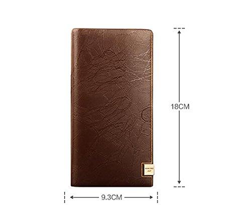 ZXDOP Brieftasche Männer Leder Brieftasche Retro Männer Langer Abschnitt Von Herren Leder Brieftasche ( farbe : 4# ) 4#