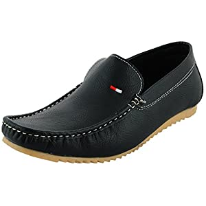 Leatherkraft Synthetic Black Men's Causal Loafers
