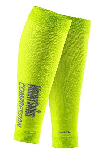 Mount Swiss© pantorrillas de medias de compresión sin pie/para pantorrillas/calzas, otoño primavera/verano verano primavera, Unisex, color verde, tamaño large