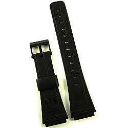 Casio DB-53 / DB-55 black resin watch strap