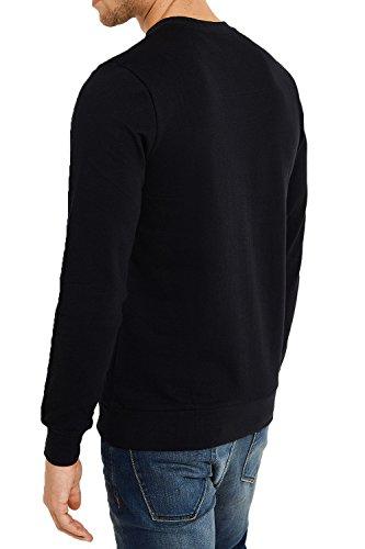 Herren Threadbare Neuheit Aufdruck Pullover Festive Weihnachts Pullover FMV033-Black