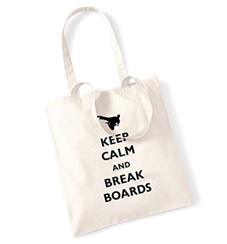 Keep calm and break boards tote bag (Board Tote)
