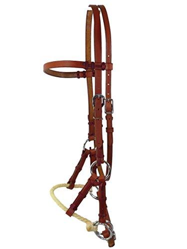 Sidepull mit Single Rope Nasenriemen, Chesnut, Thor Equine Cob