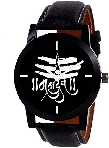 A R Sales Mahadev Black Dial Analog Watch For Mens And Boys