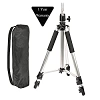 Adjustable Aluminium Alloy Tripod Stand Holder Training Head Hairdressing Mannequin Manikin Canvas Block Head Wig Stand Salon Hair Clamp With Carrying Bag Sliver