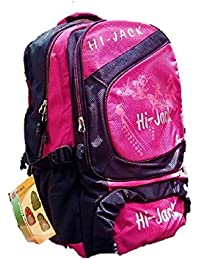 Hijack Nylon Pink And Black School Backpack