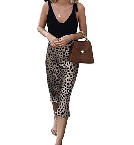 Frauen Animal Pattern Midi Rock - Damenmode Rock Lässig Tägliche Arbeit Büro Frühling und Sommer Französisch Eleganz (Leopard, M) - Animal Rock
