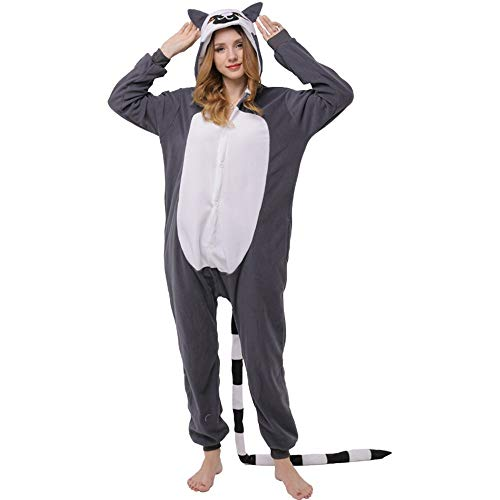 DUKUNKUN Overall Kostüm Adult Pyjamas Cosplay Halloween Karneval Maskerade Weihnachten Cartoon Party,S