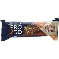 SCI-MX Nutrition Pro 2GO Protein Flapjack, Chocolate and Hazelnut, Box 80 g x 24