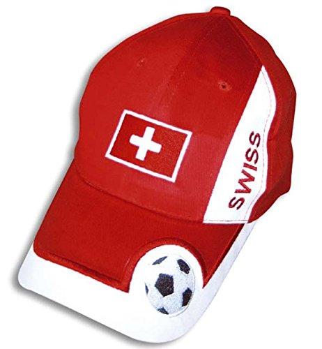 Fan Basecap Schweiz, variabel verstellbar, WM, EM