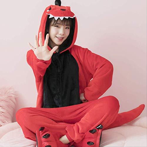 Flanell Tier sünde Körper verdickt S DinosaurierErwachsene Unisex Tier Schlafanzug Cosplay Pyjamas Karneval Kostüm Loungewear