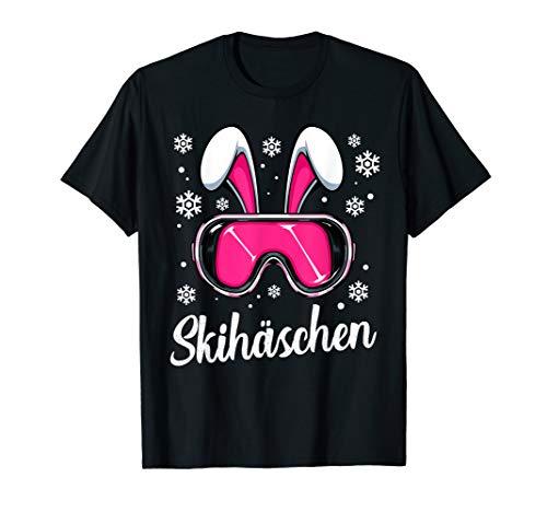 Skihäschen Skihaserl Skibrille Apres Ski Skifahren Skihasen T-Shirt