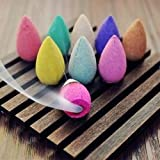 ECraftIndia Pack Of 30 Backflow Incense Cones In Rose, Jasmine And Lavender Scent For Backflow Incense Burners