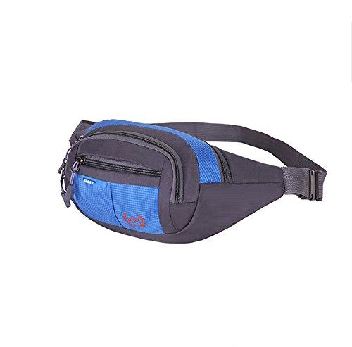 ZYPMM 2017 Männer neue Multifunktionstaschen männliche Tasche Leinwand Umhängetasche mit großer Kapazität im Freien Sporttasche Geldbeutel weibliche Kletterer Dark blue