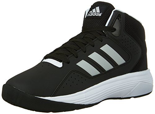 Adidas Performance Cloudfoam VENTILATION Mid Basketball Shoe, noir / argent / blanc métallique, 6,5 Black/Metallic Silver/White