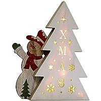 Weihnachten Dekor Türhänger von Malloom, Batterie kreatives LED Nachtkopf Schlafzimmer hölzernes Verzierungs Licht preisvergleich bei billige-tabletten.eu