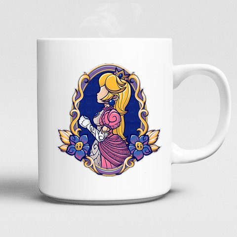 Super Mario Princess Peach Mug Mug 11oz Ceramics